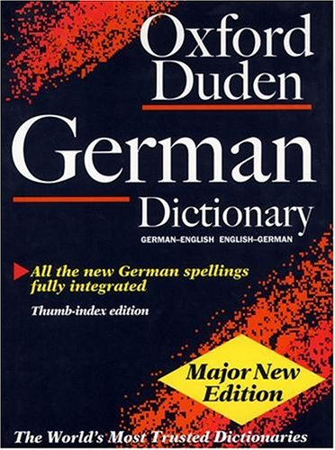 9780198602484: The Oxford-Duden German Dictionary