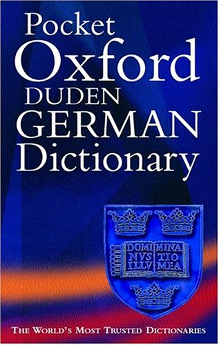 9780198602804: The Pocket Oxford-Duden German Dictionary: German-English/English-Germanh