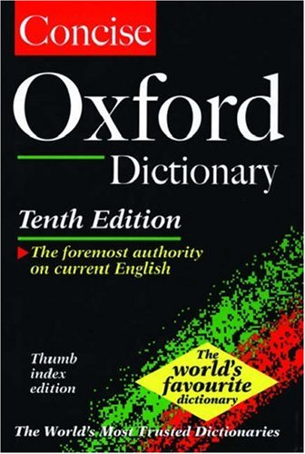 9780198602873: The Concise Oxford English Dictionary: Thumb Indexed