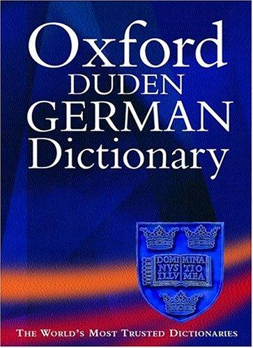 9780198603658: Oxford-Duden German Dictionary