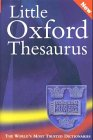 The Little Oxford Thesaurus: Martin Nixon (Editor),