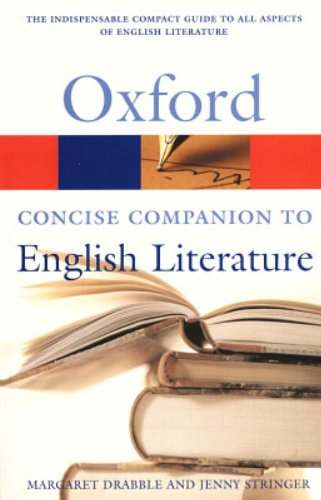 9780198605591: The Concise Oxford Companion to English Literature (Oxford Quick Reference)