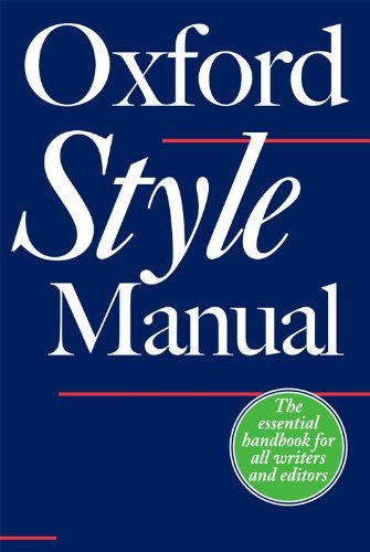 9780198605645: The Oxford Style Manual