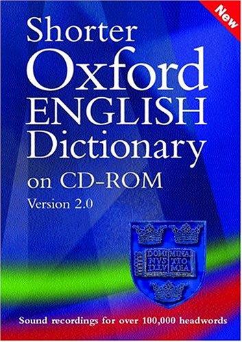 9780198606130: Shorter Oxford English Dictionary: Windows version 2.0