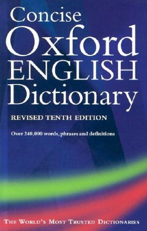 9780198606901: The Concise Oxford English Dictionary: Thumb Index