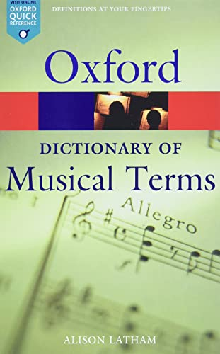 9780198606987: Oxford Dictionary of Musical Terms (Oxford Quick Reference)