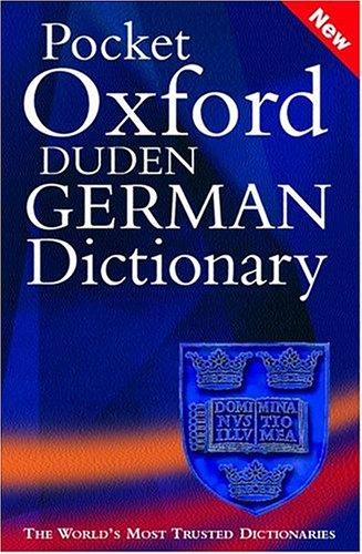 9780198607052: Pocket Oxford Duden German Dictionary