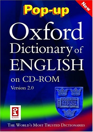 9780198607762: Pop-up Oxford Dictionary of English: Windows CD-ROM
