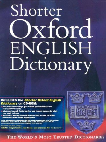 9780198608691: Shorter Oxford English Dictionary (book & CD-ROM set)