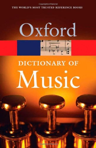 9780198608844: The Concise Oxford Dictionary of Music (Oxford Paperback Reference)