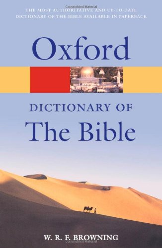 9780198608905: A Dictionary of the Bible (Oxford Quick Reference)