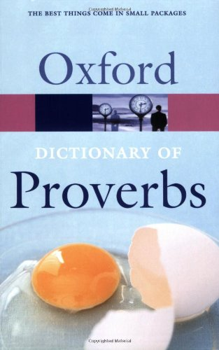 9780198608943: Oxford Dictionary of Proverbs (Oxford Paperback Reference)