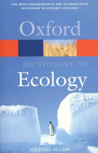 9780198609445: A Dictionary of Ecology (Oxford Quick Reference)