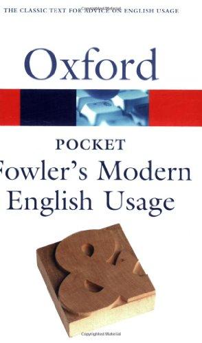 9780198609476: Pocket Fowler's Modern English Usage