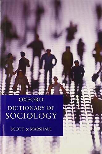9780198609865: A Dictionary of Sociology (Oxford Paperback Reference)
