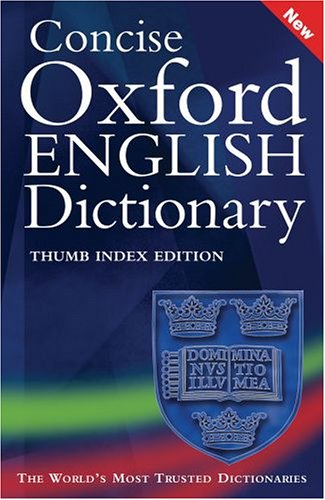 9780198610106: Concise Oxford English Dictionary (thumbindex): Thumb Index Premium Edition
