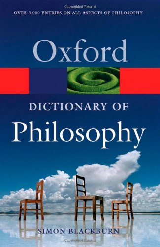 9780198610137: The Oxford Dictionary of Philosophy (Oxford Quick Reference)