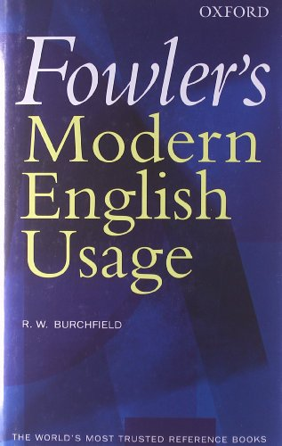 9780198610212: Fowler's Modern English Usage