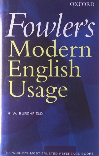 9780198610212: Fowler's Modern English Usage