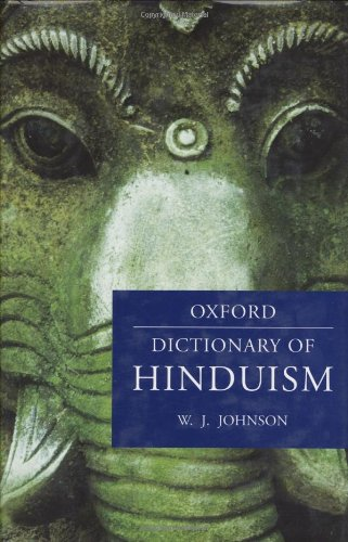 9780198610250: A Dictionary of Hinduism