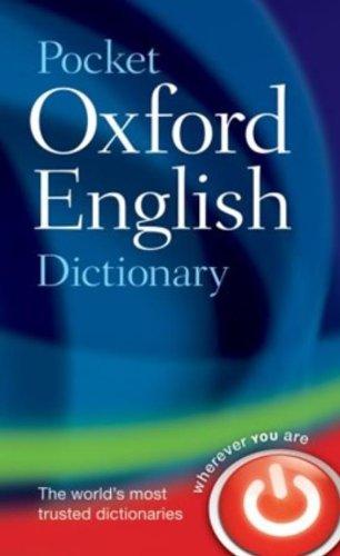 9780198610298: Pocket Oxford English Dictionary