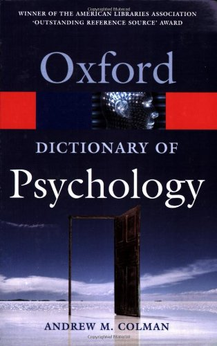 9780198610359: A Dictionary of Psychology (Oxford Quick Reference)