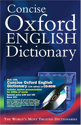 9780198610472: Concise Oxford English Dictionary 11/e: Dictionary and CD-ROM bundle