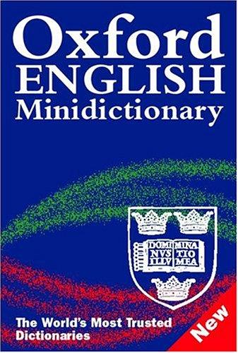 9780198610564: OXFORD ENGLISH MINI DICTIONARY