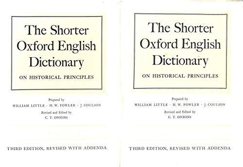 9780198611059: Shorter Oxford English Dictionary