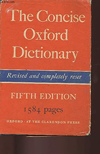 9780198611073: The concise Oxford dictionary of current English,