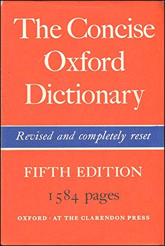 9780198611080: Concise Oxford Dictionary of Current English
