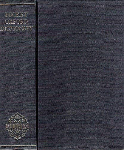 9780198611134: Pocket Oxford Dictionary of Current English