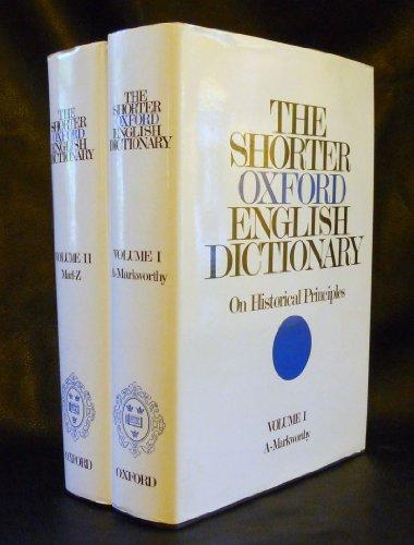 The Shorter Oxford English Dictionary PDF
