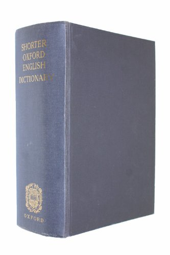 9780198611257: Shorter Oxford English Dictionary: w. thumb index