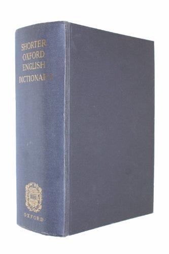 9780198611257: Shorter Oxford English Dictionary