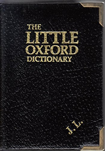 9780198611288: The Little Oxford Dictionary of Current English