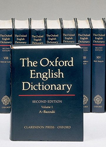 9780198611868: The Oxford English Dictionary: Vols 1-20 (Oxford English Dictionary (20 Vols.))