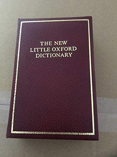 9780198611882: The Little Oxford Dictionary of Current English