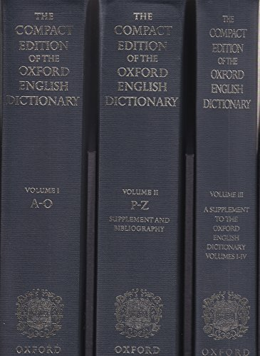 9780198612124: Oxford English Dictionary: W.Suppt v. 1-13 in 2v