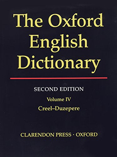 9780198612162: The Oxford English Dictionary, Second Edition (Volume 4)
