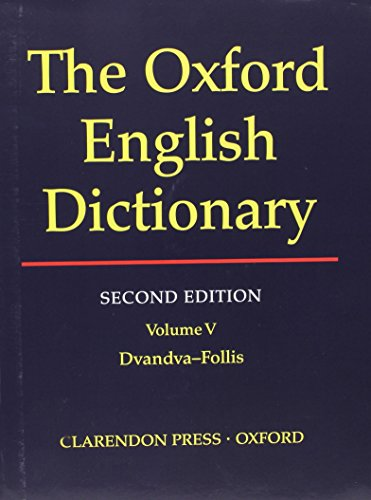 9780198612179: The Oxford English Dictionary, Second Edition (Volume 5) [Hardcover] by