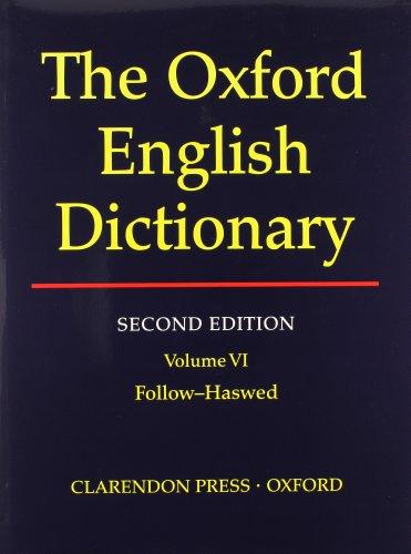 9780198612186: Oxford English Dictionary Edition Volume 6