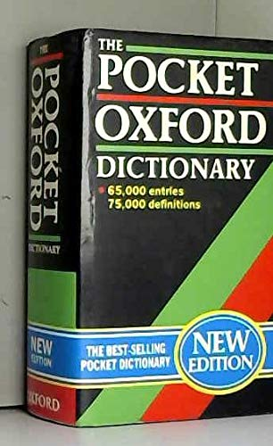 9780198612568: The Pocket Oxford Dictionary of Current English