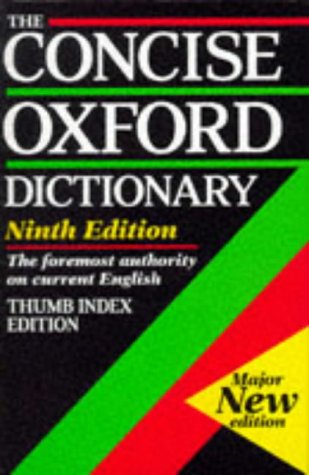 9780198613206: The Concise Oxford Dictionary of Current English: Thumb Index