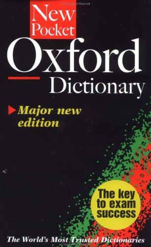 9780198613343: Pocket Oxford Dictionary