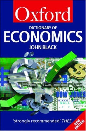 9780198613497: A Dictionary of Economics (Oxford Quick Reference)