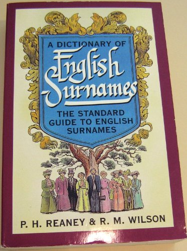 9780198631460: A Dictionary of English Surnames