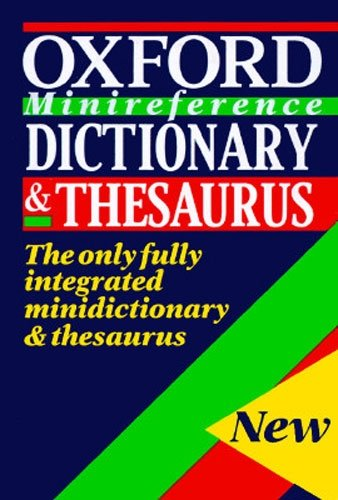 9780198631491: Dic Oxford Minireference Dictionary and Thesaurus
