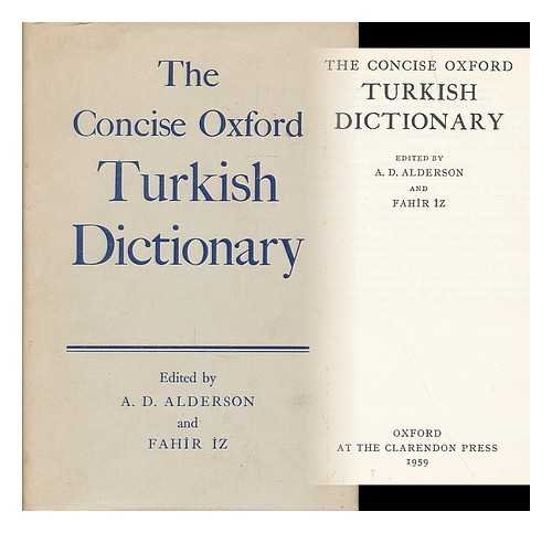 9780198641094: The Concise Oxford Turkish Dictionary