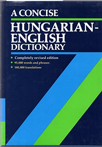 9780198641698: A Concise Hungarian-English Dictionary
